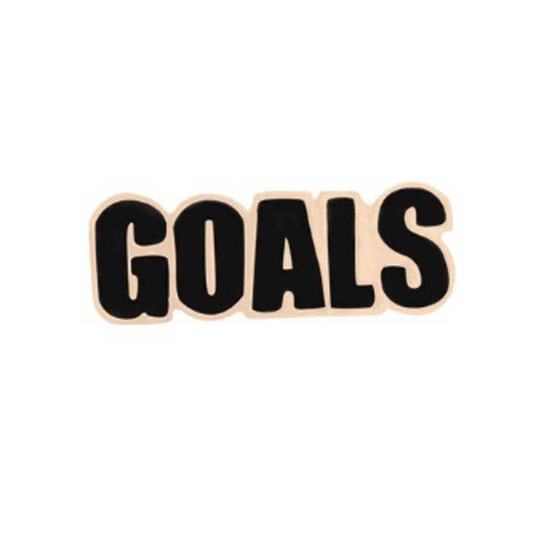 Enamel Goals Statement Pin - Lottie Of London Jewellery