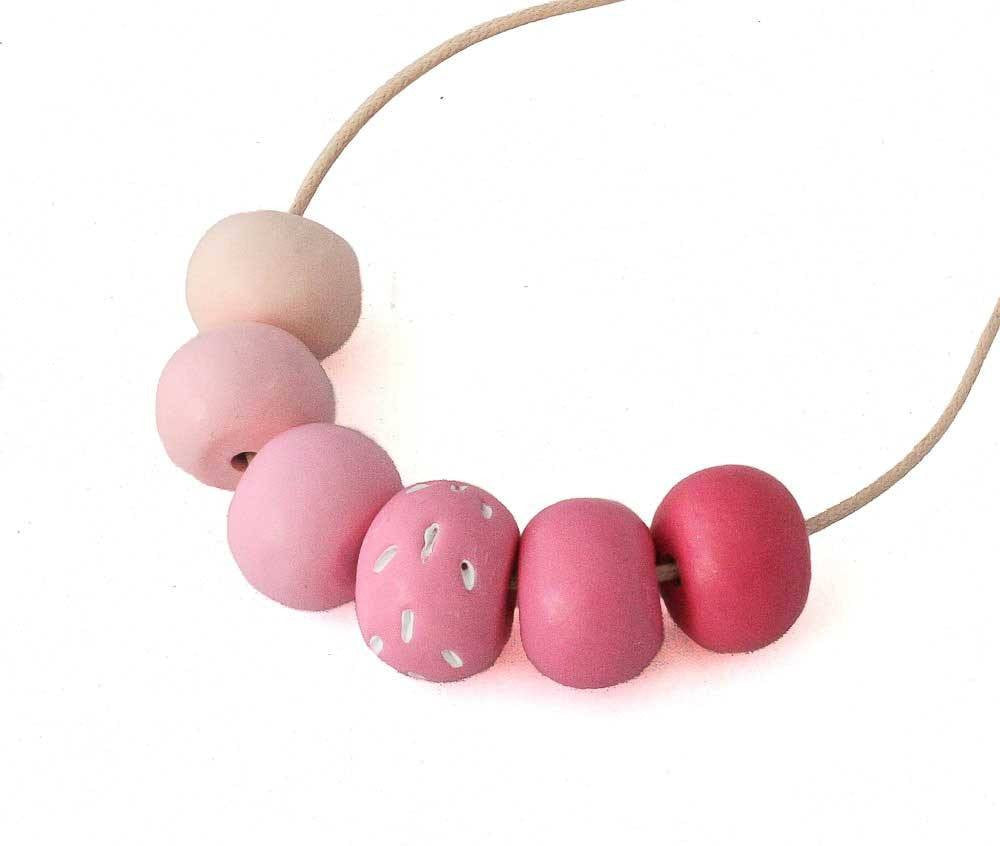 Pink Long Bead Necklace for Women - Lottie Of London Jewellery