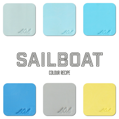 Polymer Clay tutorials for colour palettes | Sail Boat Colour Palette