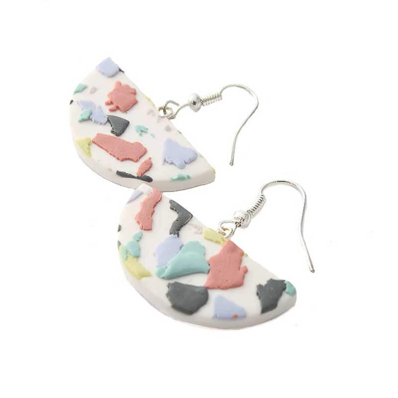 terrazzo drop earrings for women