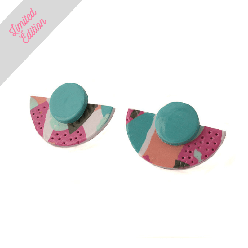 Semi Circle Stud Earrings for Women