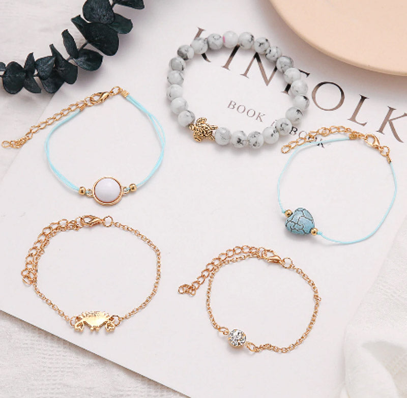 Grey Stacking Bracelets | Boho Jewellery - Lottie Of London Jewellery