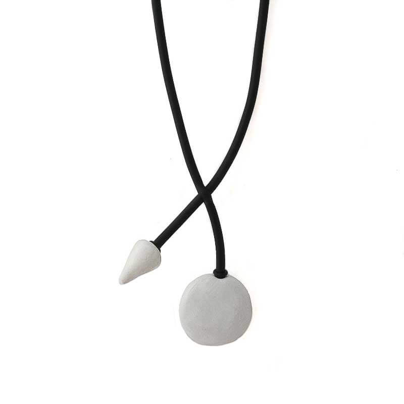 Statement Pendant Necklace for Women in White - Lottie Of London Jewellery