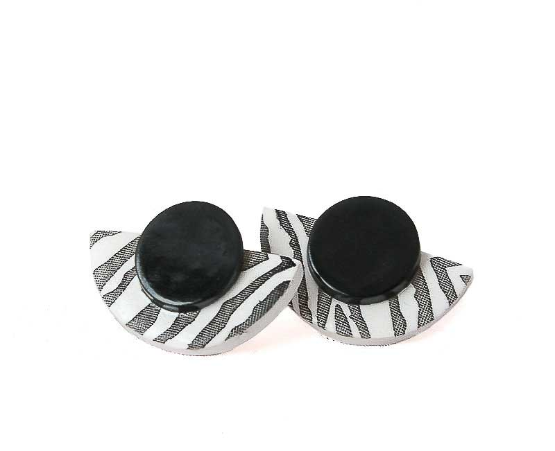 Zebra Print Earrings - Lottie Of London Jewellery