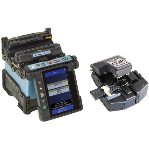Fujikura FSM-70S Optical Fibre Fusion Splicer & Cleaver Kit - networktesters.co.uk