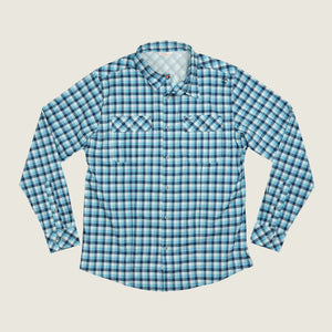 Cayo LS - Navy Plaid