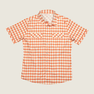 Cayo SS - Orange Plaid