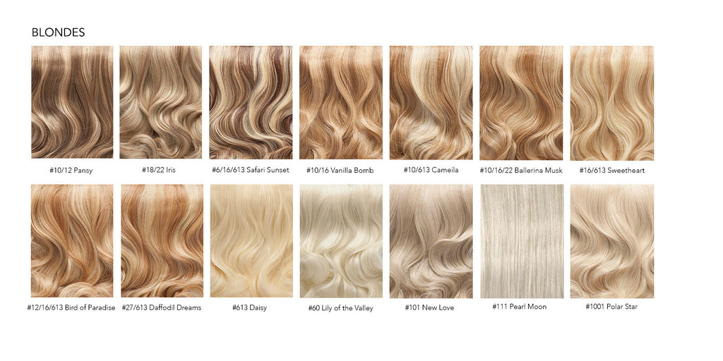 Hair Extensions Colour Chart  Everyday Luxury Hair Extensions