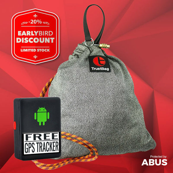 Bundle - TrustBag GREY + GPS Tracker