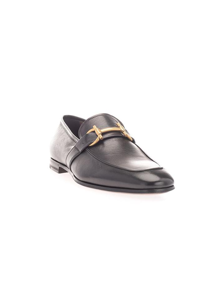 SALVATORE FERRAGAMO BLACK LOAFERS