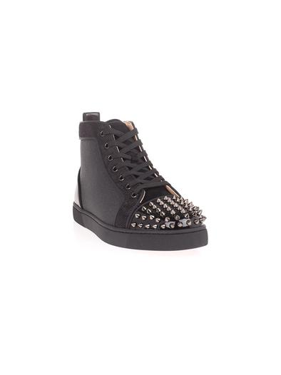 CHRISTIAN LOUBOUTIN BLACK HI TOP SNEAKERS