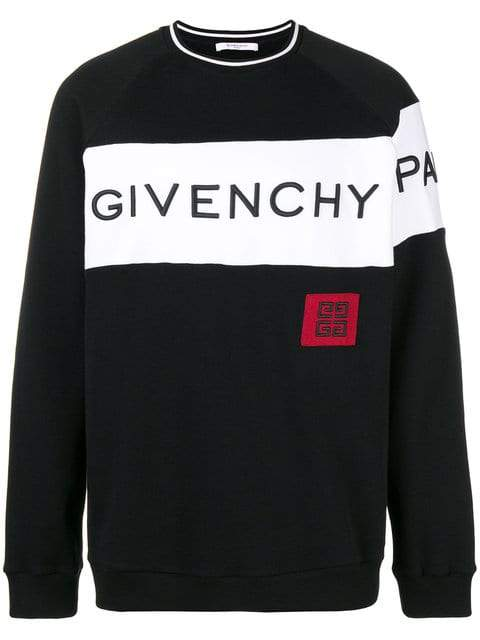 Givenchy Color-Block Logo Sweatshirt