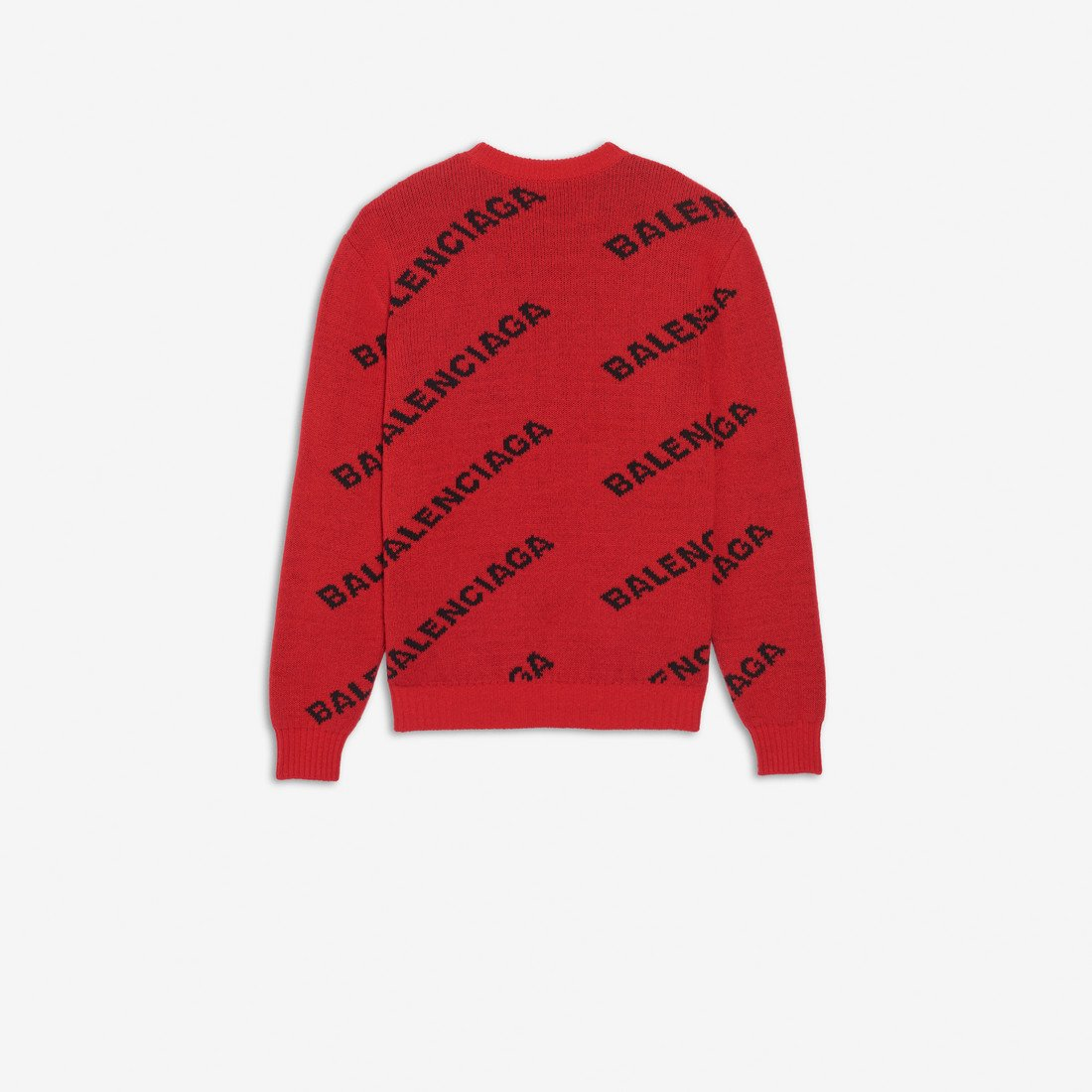 Balenciaga All-Over Logo Crewneck