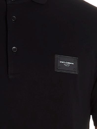 DOLCE E GABBANA BLACK POLO SHIRT