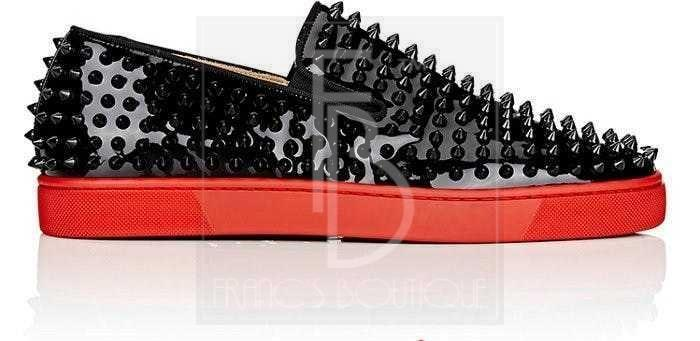 Christian Louboutin Roller-Boat Patent Leather Sneakers