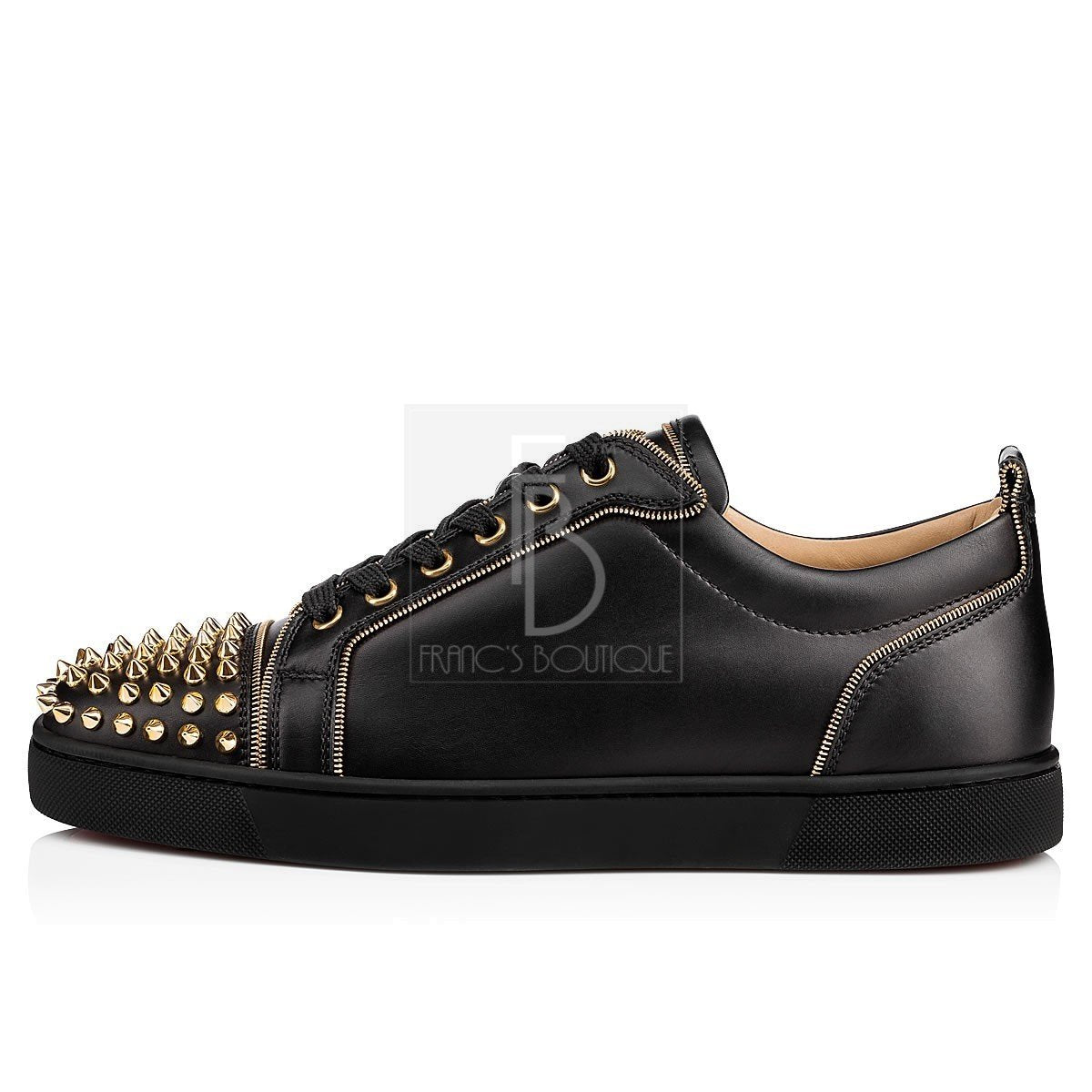 Christian Louboutin Junior Zip Spikes Flat