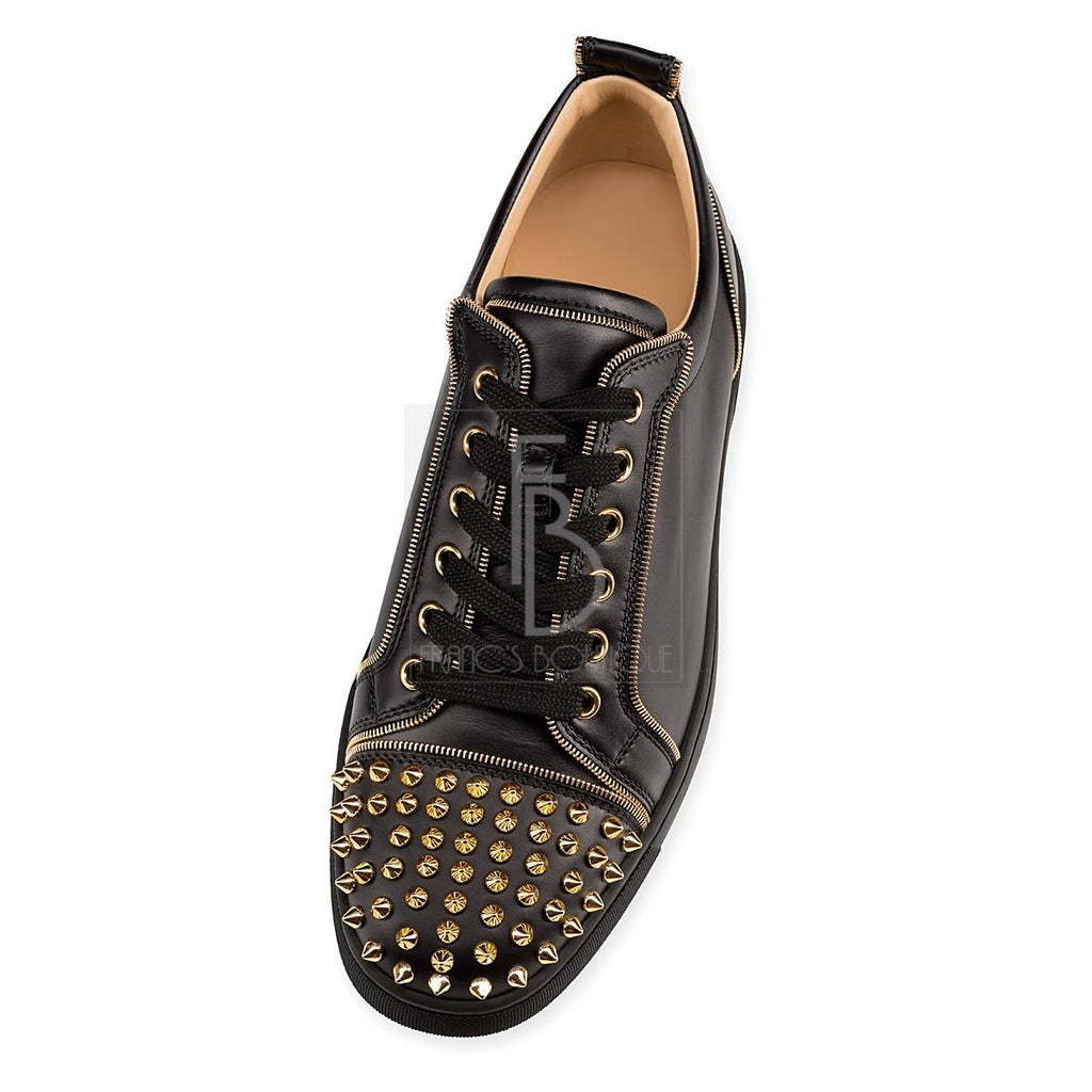 cfee8130495d Christian Louboutin Junior Zip Spikes Flat – franc s boutique