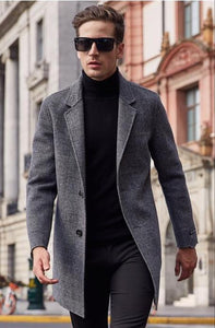 Fb Overcoat In Grey Check