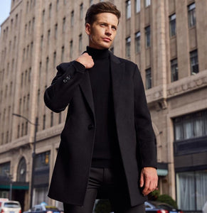 Fb Overcoat In Black