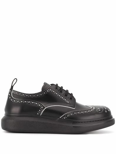 ALEXANDER MCQUEEN BLACK LACE UP SHOES