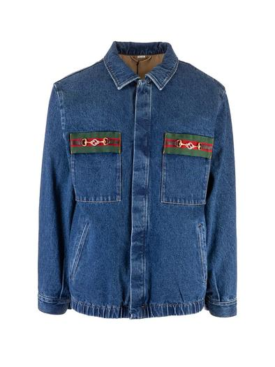 GUCCI BLUE OUTERWEAR JACKET