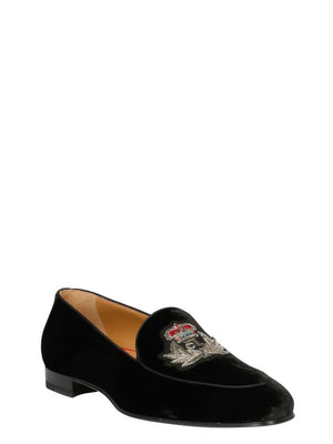 CHRISTIAN LOUBOUTIN BLACK LOAFERS