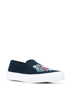 KENZO BLUE SLIP ON SNEAKERS