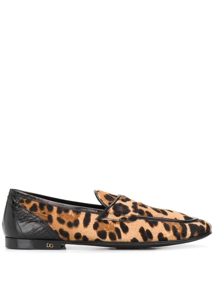 DOLCE E GABBANA BROWN LOAFERS