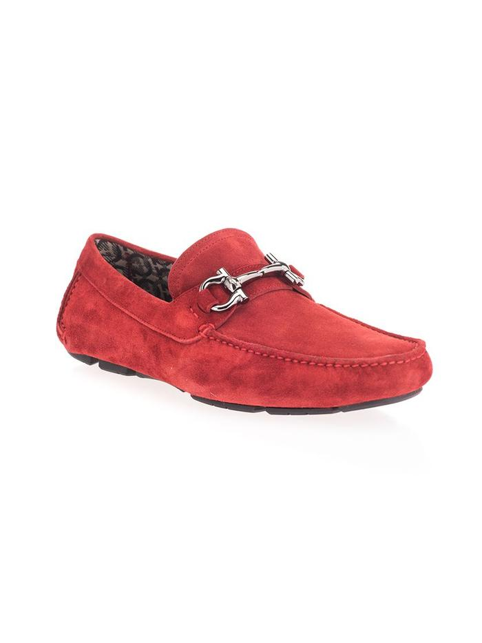 SALVATORE FERRAGAMO RED LOAFERS