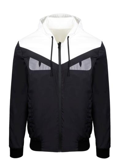 FENDI BLACK OUTERWEAR JACKET