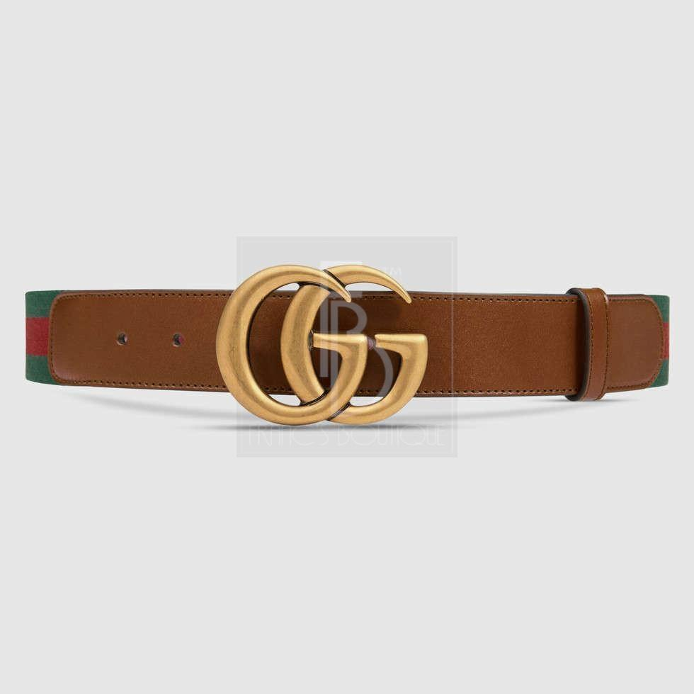 Web Belt With Double G Buckle
