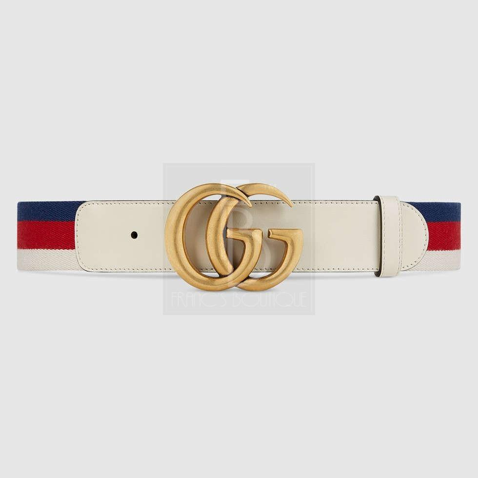 Sylvie Web Belt With Double G Buckle