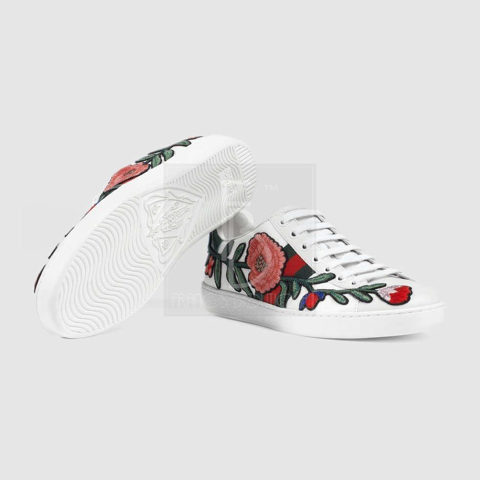 Gucci Ace Embroidered Low-Tops