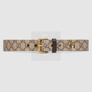 Gucci Tiger Print Gg Supreme Belt
