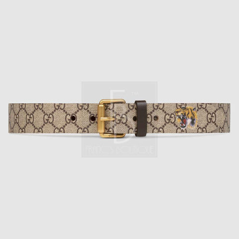 Tiger print GG Supreme belt