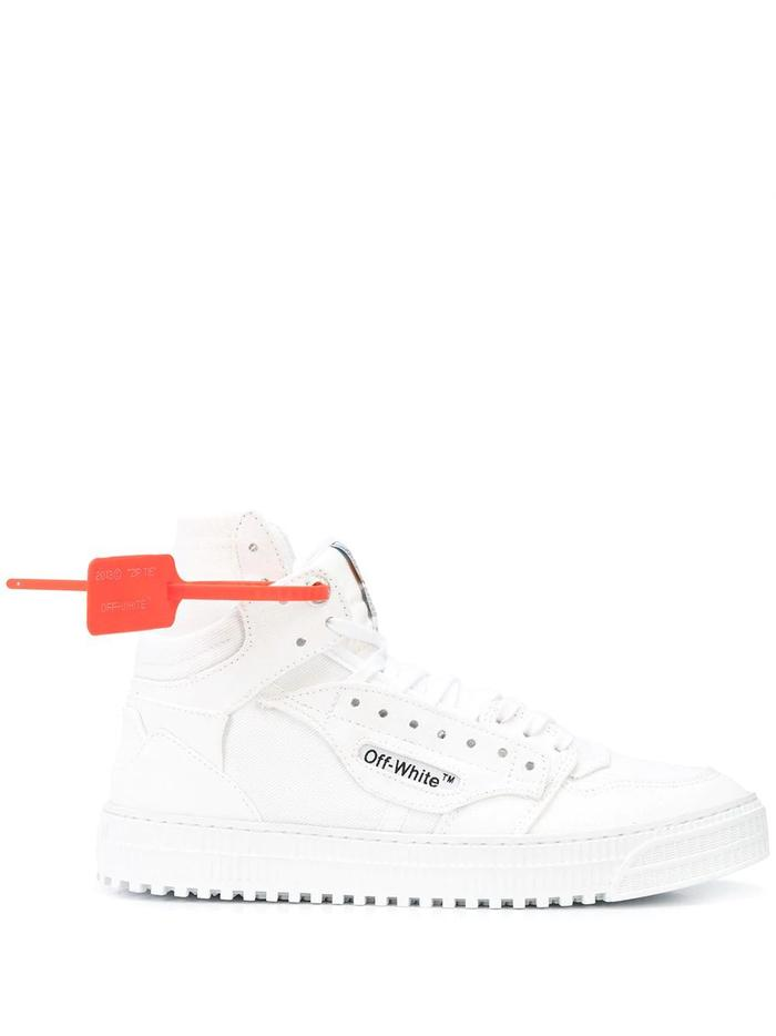 OFF-WHITE WHITE HI TOP SNEAKERS