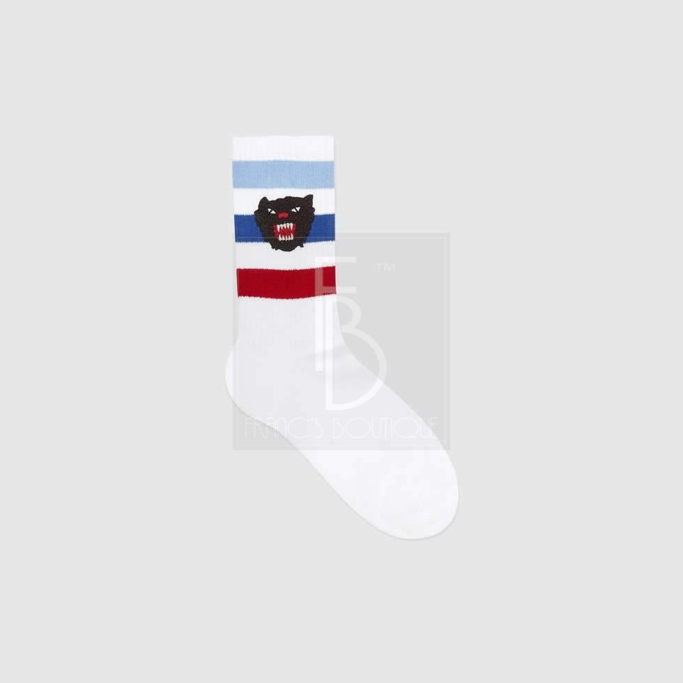 Gucci Stretch Cotton Socks With Panther