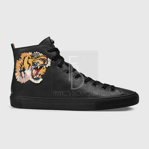 Gucci Leather Hightop With Tiger