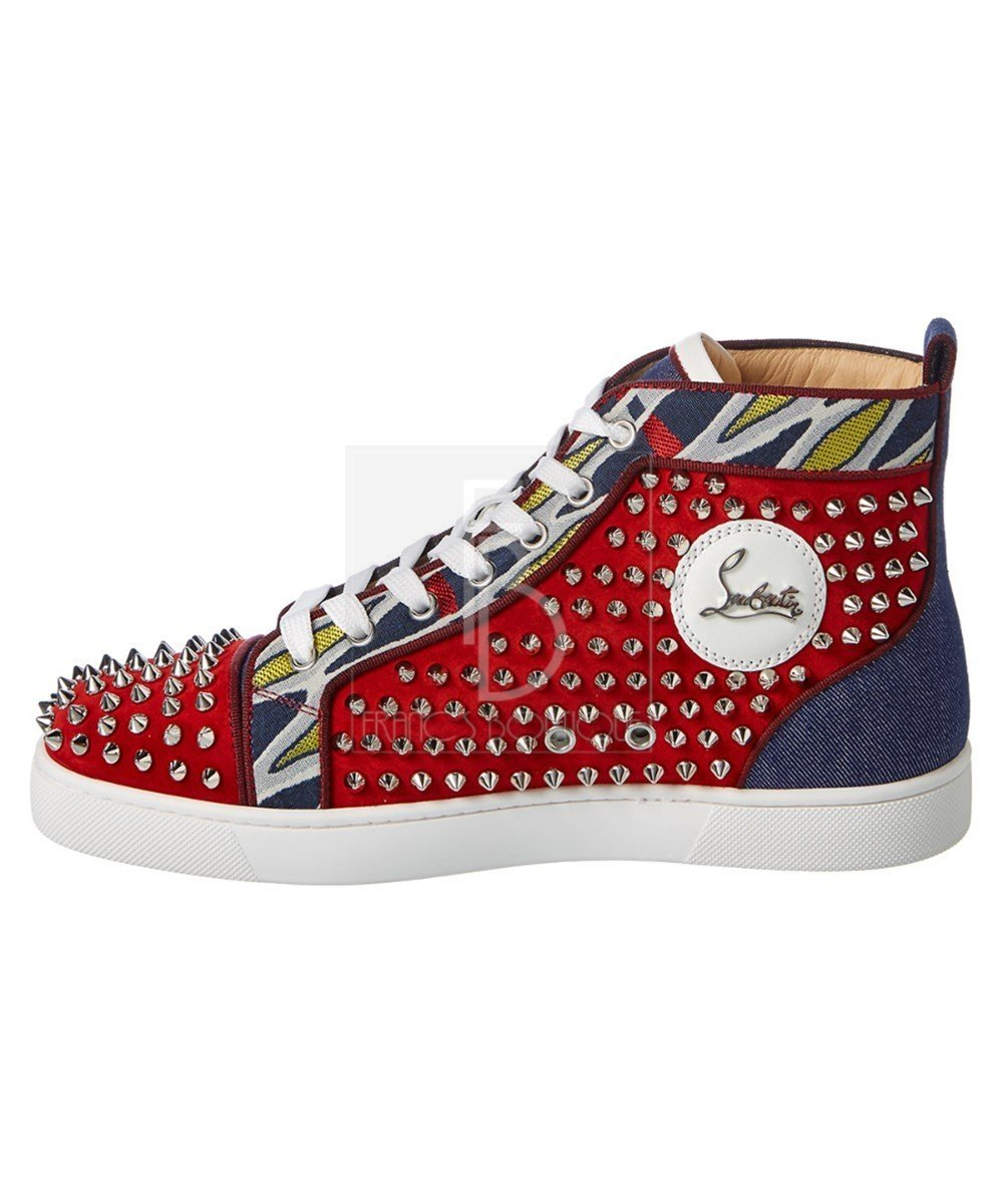 best service 00f51 38ef0 CHRISTIAN LOUBOUTIN Louis Spikes Orlato Men'S Flat Rougissime