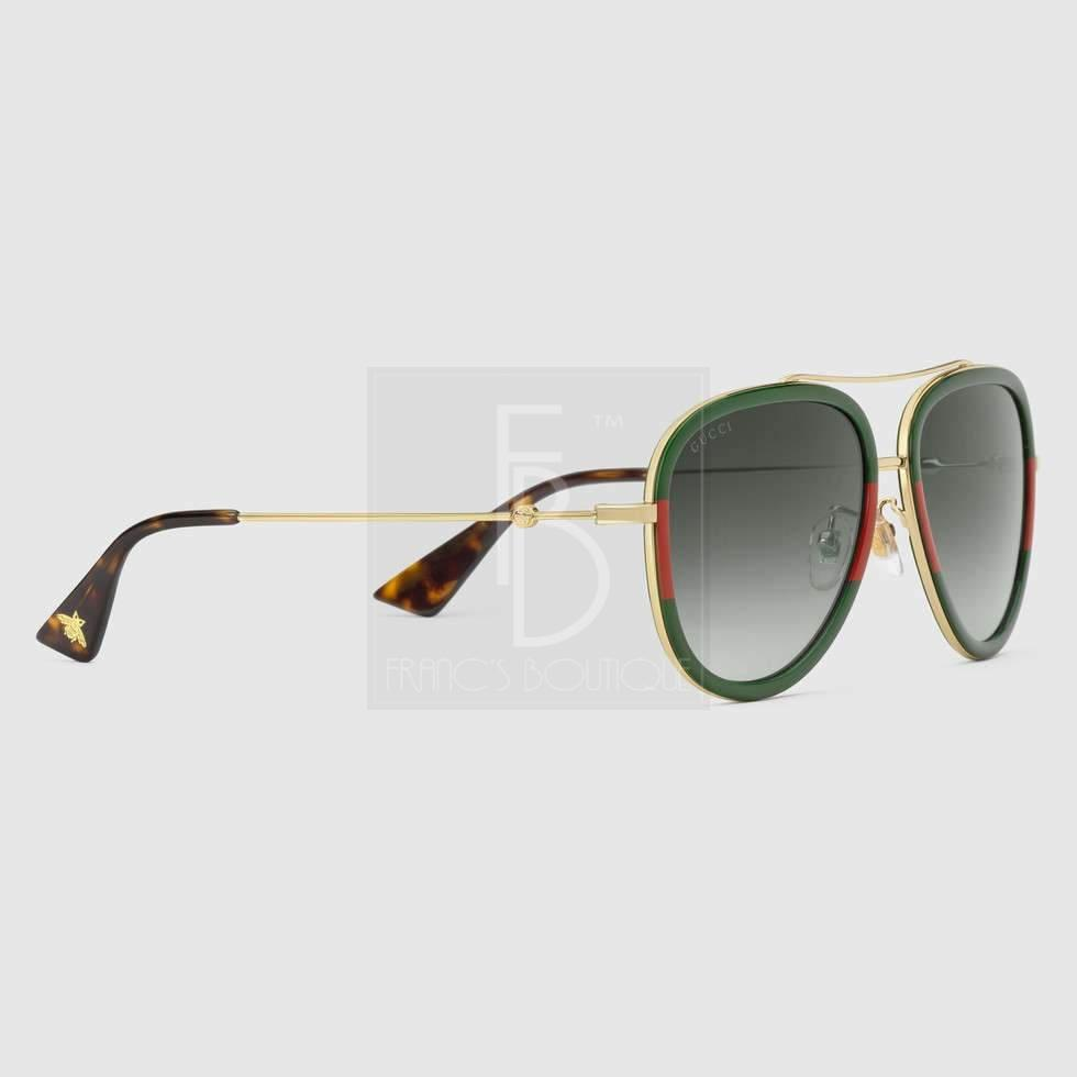 Gucci Aviator Metal Glasses