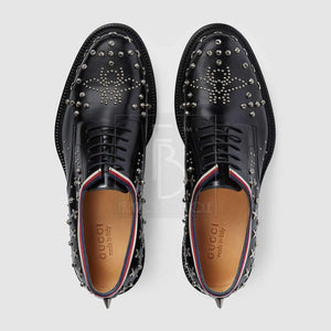 Gucci Leather Lace-Up With Studs