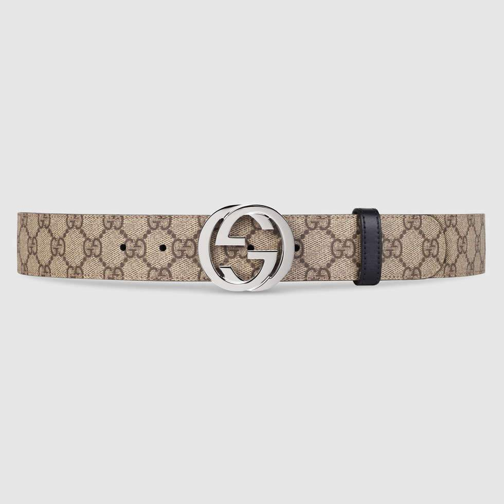Gucci Reversible Gg Supreme Belt