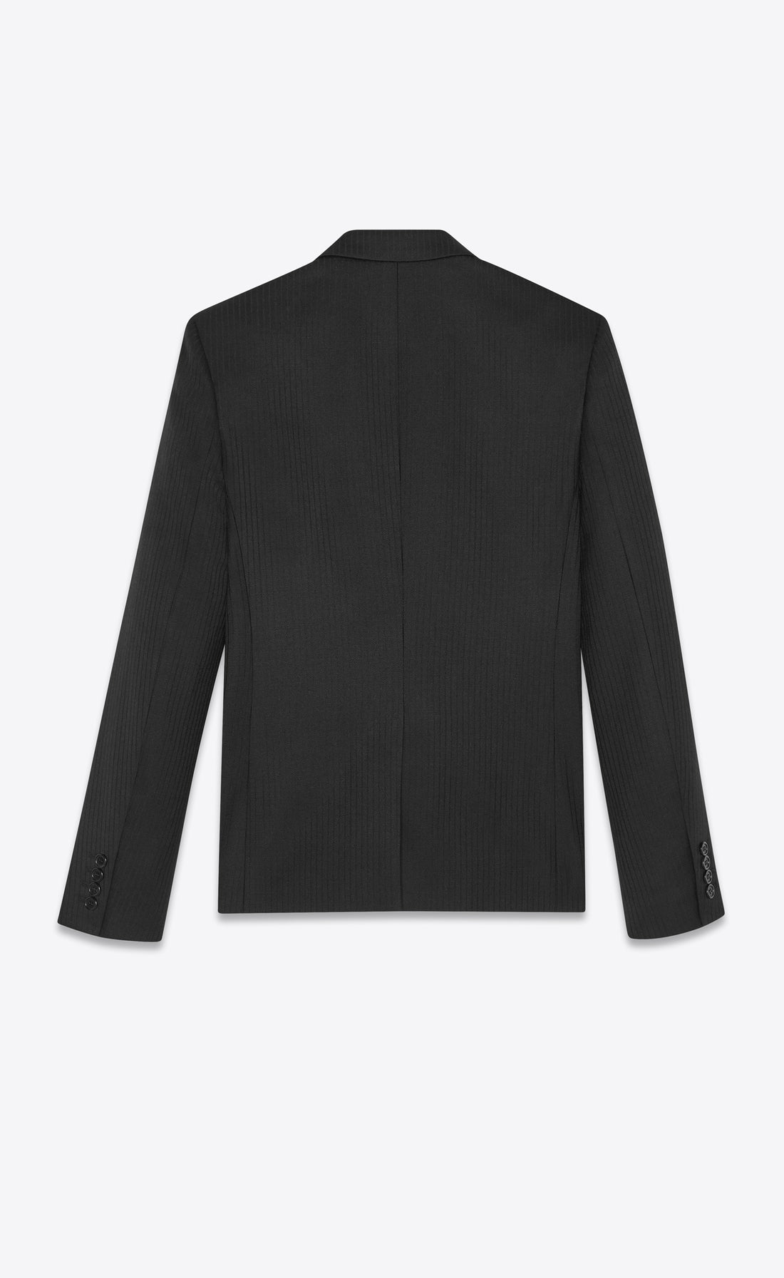SAINT LAURENT TAILORED EMBROIDERED JACKET WITH COLLAR IN SABLÉ WITH STRIPES