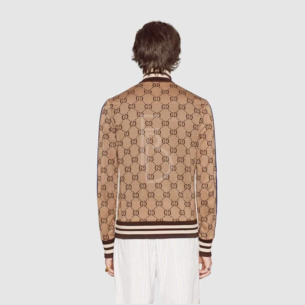 Gg Jacquard Cotton Jacket