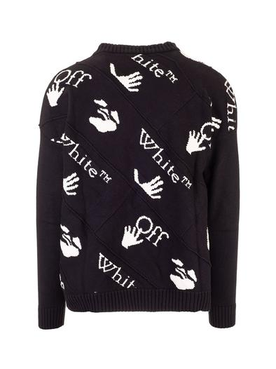 OFF-WHITE BLACK SWEATER