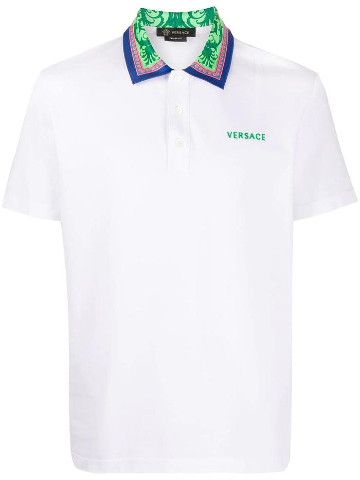 VERSACE WHITE POLO SHIRT