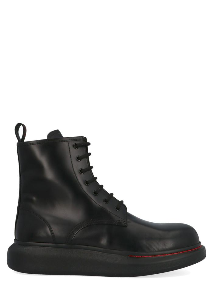 ALEXANDER MCQUEEN BLACK ANKLE BOOTS