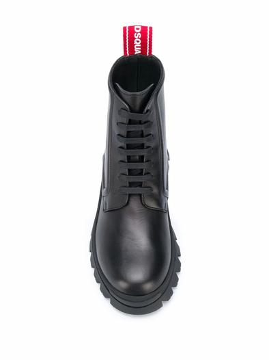 DSQUARED2 BLACK ANKLE BOOTS