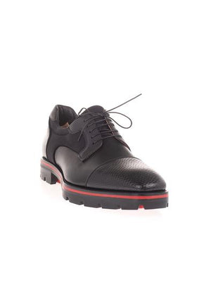 CHRISTIAN LOUBOUTIN BLACK LACE-UP SHOES