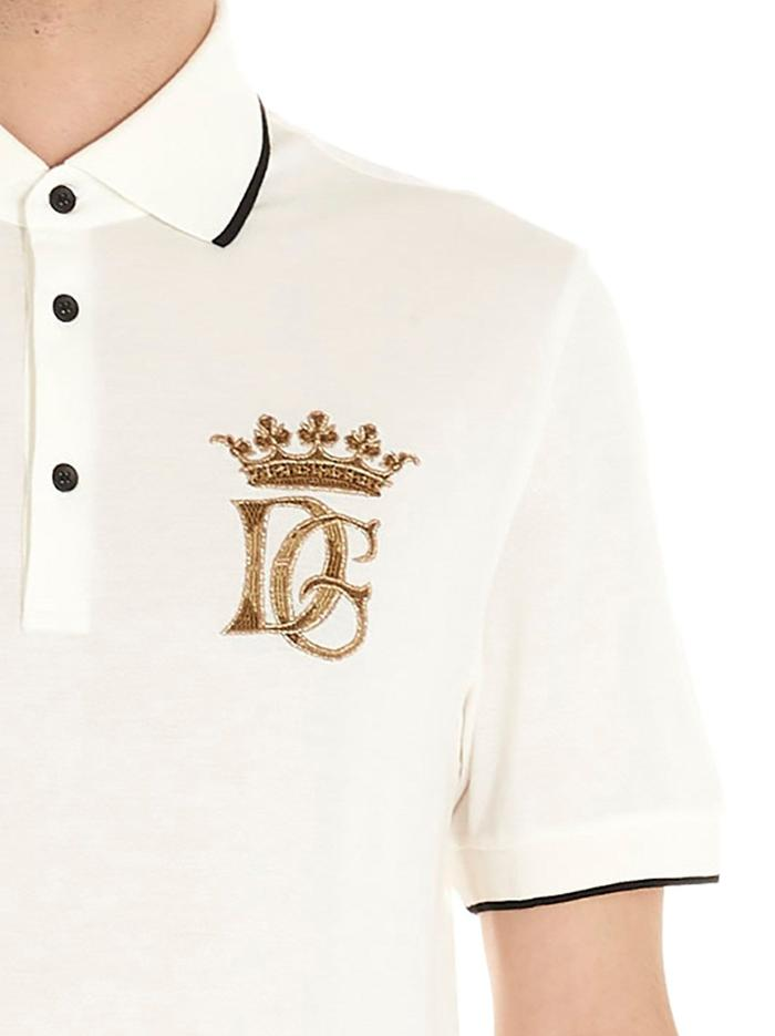 DOLCE E GABBANA WHITE POLO SHIRT